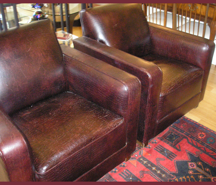 vintage leather club chairs 1